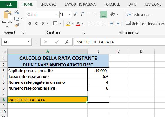 Calcolo Prestito Calcola Rata E Tasso Di Interesse Del  Review Ebooks