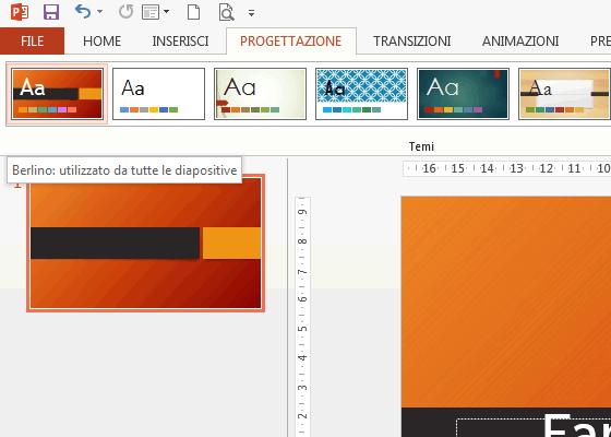 Modificare la grafica di sfondo in powerpoint